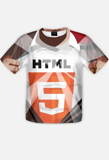 Koszulka Fullprint - HTML5 - dziwneumniedziala.com - koszulki dla informatyków