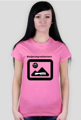 Koszulka damska #zdjeciegrzebieniem 1