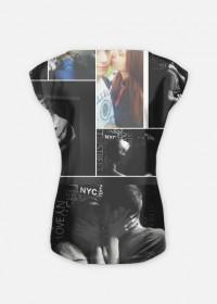 Koszulka z kolażem zdjęć   Kobieta