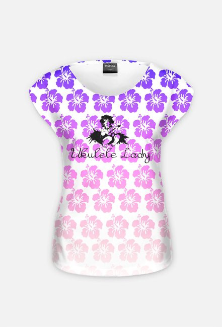 Ukulele lady + kwiaty