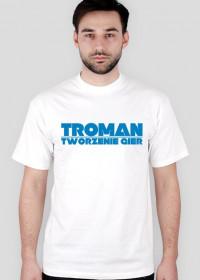 Koszulka troman tworzenie gier white-blue