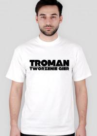 Koszulka troman tworzenie gier white-black
