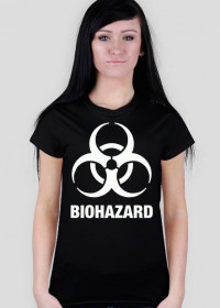 Koszulka damska czarna - BIOHAZARD