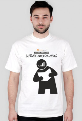 Koszulka męska PiktoGrafiki - Czytanie zwiększa zasięg