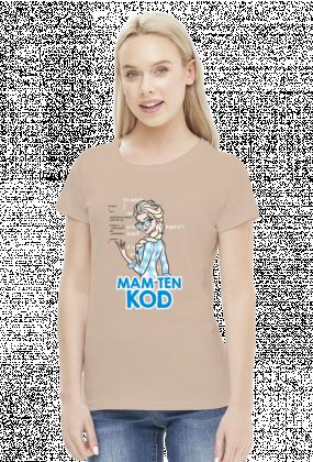 GeekWear - Elsa, Kraina Lodu, Frozen, mam ten kod, mam tę moc, informatyka -koszulka damska