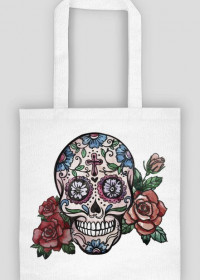HandPainted Skull Bag