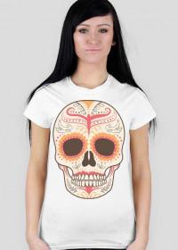 Orange Skull Woman