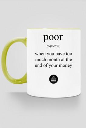Definition: poor. II