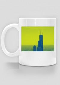 Kubek z widokiem - budynek Sears Tower Chicago city