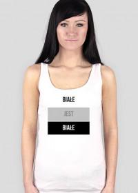 Koszulka z nadrukiem - Białe jest białe