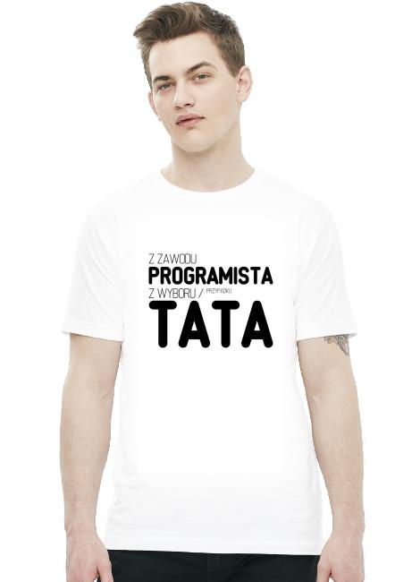 Koszulka 2 - Z zawodu programista, z wyboru / przypadku - koszulki nietypowe, śmieszne - chcetomiec.cupsell.pl