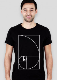 Fibonacci T-shirt męski SLIM ciąg Fibonacciego Petrichor