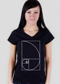 Fibonacci T-shirt damski ciąg Fibonacciego Petrichor
