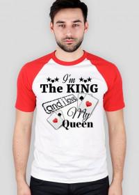 "Koszula Baseball ""I'm The King and i love My Queen"" 2 Kolory do wyboru"