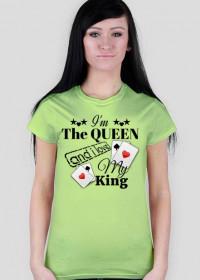"""Koszulka Ladies Havy """"I'm The Queen and i love My King"""" 5 Kolorów do wyboru"""
