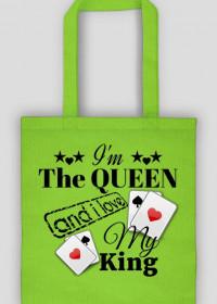 "Eko Torba ""I'm The Queen and i love My King"" 3 Kolory do wyboru"