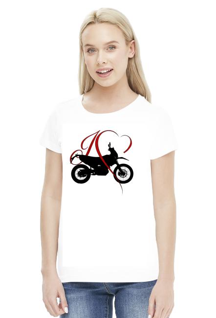 I love moto enduro/cross - damska koszulka motocyklowa