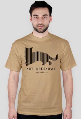 Koszulka KOT KRESKOWY (czarny nadruk)