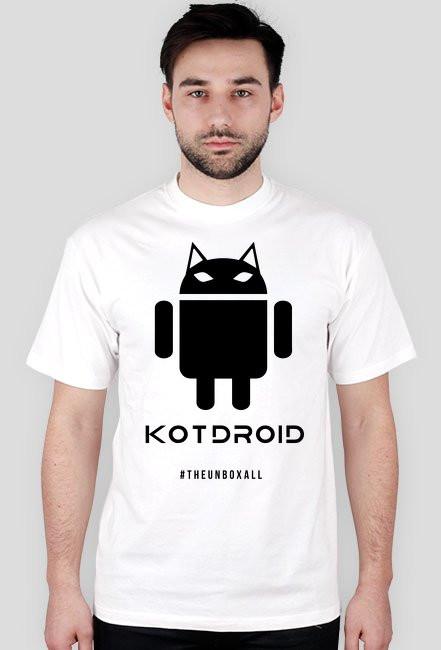 Koszulka KOTDROID (czarny nadruk)