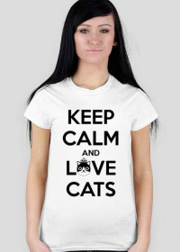 KEEP CALM and LOVE CATS - DAMSKI