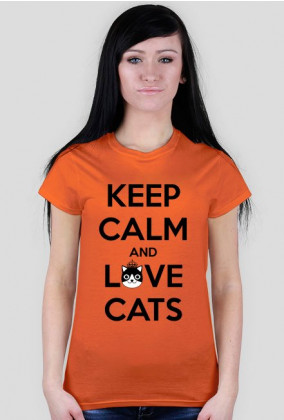 KEEP CALM and LOVE CATS - DAMSKI