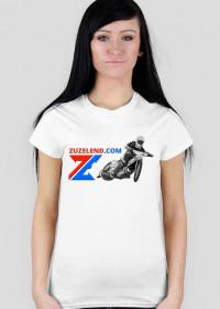 Koszulka Zuzelendu z żużlowcem, damska