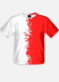 Flaga Polski - pionowa - koszulka męska Prawo Wilka