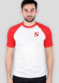Szachownica lotnictwa polskiego - mała - koszulka męska Prawo Wilka