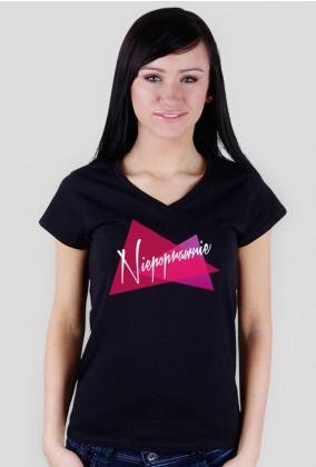 Damska koszulka Niepoprawnie #1