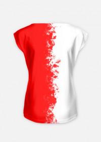 Flaga Polski - pionowa - koszulka damska Prawo Wilka