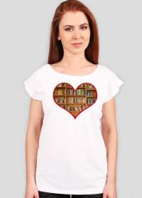 Książki w sercu - różne kolory