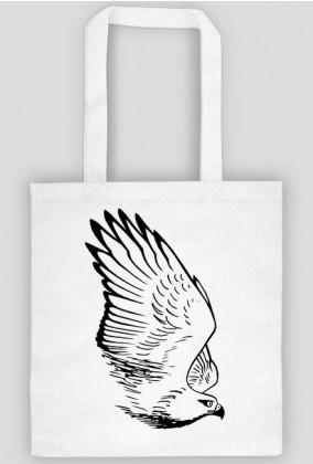 Jastrząb, rysunek - torba