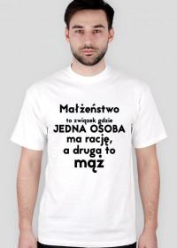 Małżeństwo- śmieszna koszulka