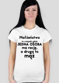 Małżeństwo- śmieszna koszulka (damska)