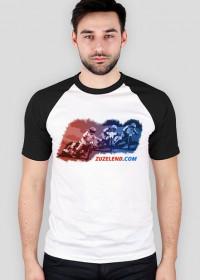 Koszulka z żużlowcami, kolorowe rękawy