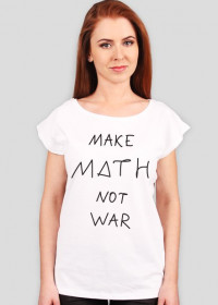 Oversize biała - MAKE MATH ♀