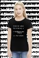 Koszulka czarna - NIE UCZĄC SIĘ... ♀