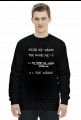Bluza czarna - NIE UCZĄC SIĘ...