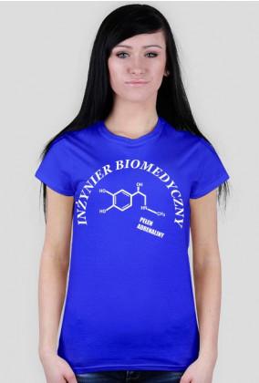 Koszulka Damska Inżynier Biomedyczny I Biały - SmartShirt