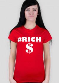 Koszulka Damska Rich Biały - SmartShirt