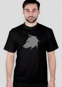 Prawo Wilka - logo szare - koszulka męska
