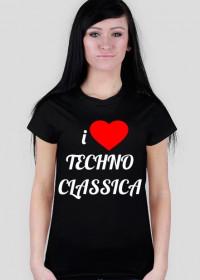 i Love Techno Classica (dark t-shirt) for woman