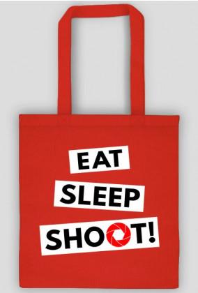 EAT SLEEP SHOOT! - ekotorba foto w Camwear