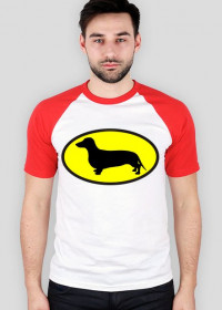 Koszulka męska Jamnik Batman