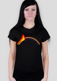 Płonąca tęcza - koszulka damska Prawo Wilka