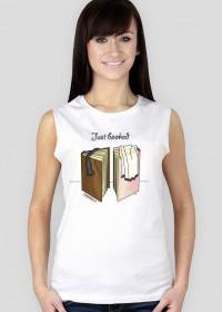 Koszulka damska bez rękawów Just booked
