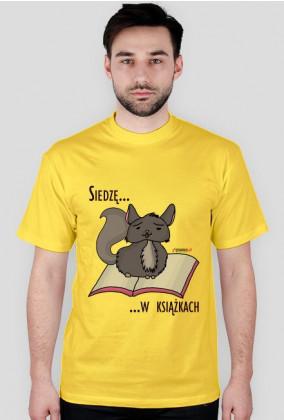 Koszulka męska Siedzę w książkach (szynszyla)