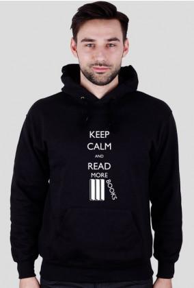 Bluza męska z kapturem (ciemne kolory) Keep calm
