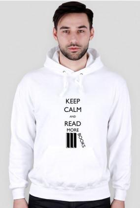 Bluza męska z kapturem (biała) Keep calm