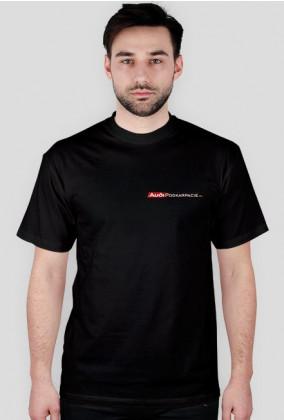 T-Shirt nadruk na piersi